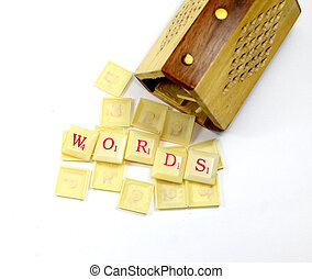 scrabble words with wooden stand