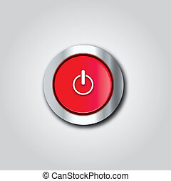Shutdown button - This image is a vector illustration and...