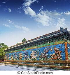 The nine dragon wall - The Nine-Dragon(Long) Wall in Bei Hai...