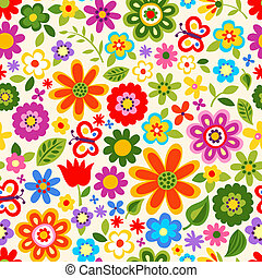 seamless flower colour pattern