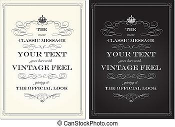 Vector Vintage Crown Frame Set