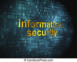 Protection concept: Information Security on digital...