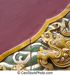 the nice dragon wall - Dragon decoration in China Museum of...
