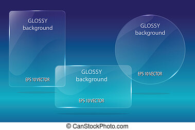 glass speech bubbles - view glass speech bubbles vector