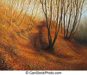 Beyond Silence - An oil painting on canvas of a silent...