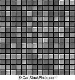 Vector black & white tile seamless texture