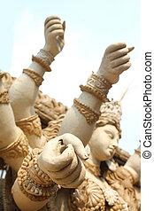 durga puja sculptures - durga puja incomplete sculpture...