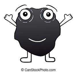 Cute coal cartoon, vector illustration