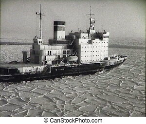 Newsreel of the USSR. The Arctic. Icebreaker.