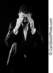 Businessman concerned about crisis - Portrait of a...