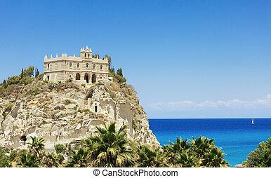 Santa Maria church in Tropea - Santa Maria church against...