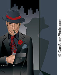 Dressed To Kill - Vector illustration of a dapper hitman...
