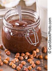 Chocolate hazelnut spread.