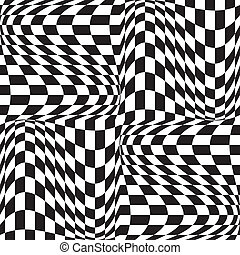 Op Art Background - Vector seamless four-tile repeat of a...