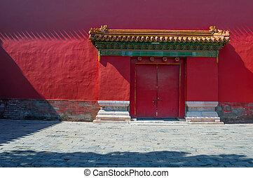 forbidden city detail in beijing