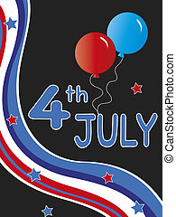 4th july - illustration for party 4th july