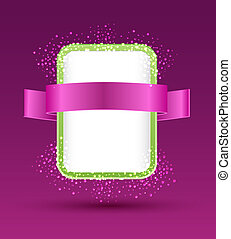 vector banner with ribbon