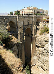 New bridge in Ronda, one of the famous white villages in...