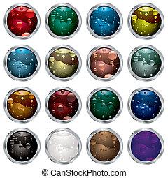 bubble button bevel