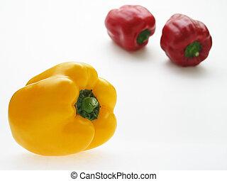 paprikas - red and yellow paprikas
