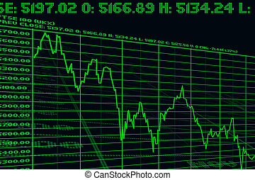 graphic falls of the index on exchanges - graphic falls of...