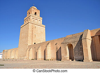Mosque of Kairouan - Tunisia - The Great Mosque of Kairouan...