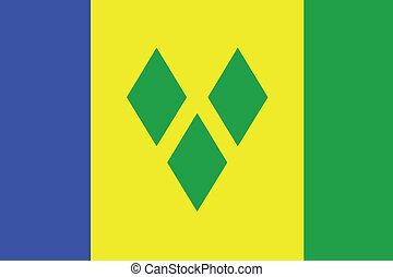 The flag of Saint Vincents and the Grenadines - An...