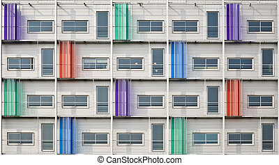 Modern architecture - Multi colored façade of a modern...