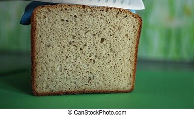 cut bread - Cut loaf of  bread