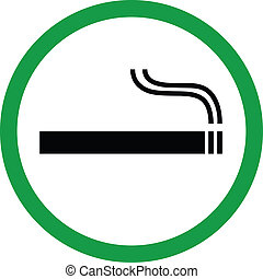 Smoking area vector illustration
