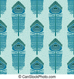 seampless pattern with peacock feathers - seamless pattern...