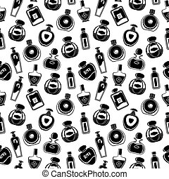 Seamless perfumes pattern - Seamless pattern of different...