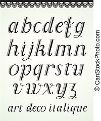 Art Deco Alphabet, Italique Small Caps