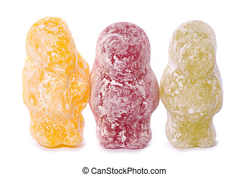 three jelly babies cutout - three jelly babies studio cutout