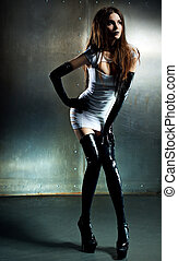 Young sexy goth woman