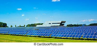 Solar panels - Modern solar panels in Europe.