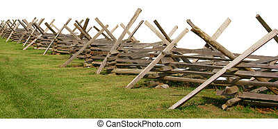 Partially Isolated Civil War Fence - Partially isolated...