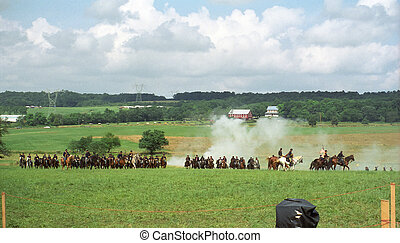 Civil War Cavalry Charge - Cavalry Charge at Gettysburg...