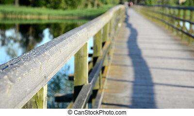 bridge people walk