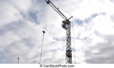 Industrial crane and cab - Tall industrial crane and its...
