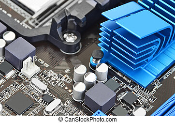 Computer motherboard board - Printed computer motherboard...