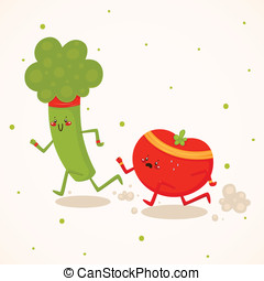 Broccoli vs tomato