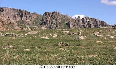 Alpine Scenic Landscape - a scenic landscape in the high...