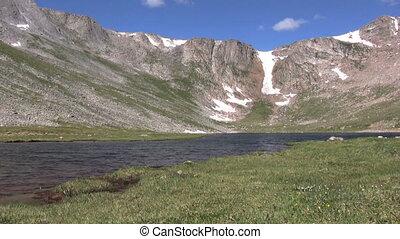 High Alpine Lake - a scenic lake nestled in the high alpine...