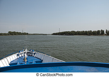Passanger Transport Ship Danube River in Sulina Romania
