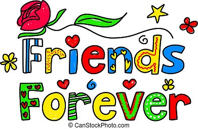 friends forever - Simple but pretty decorative text message...