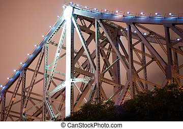 Close up of Story Bridge - Story Bridge at Night
