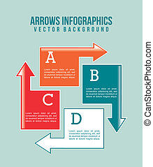 arrows infographics over blue background. vector...