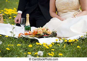 picknick - just married couple