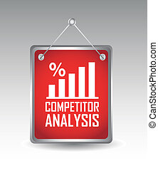 competitor analysis announcement over gray background vector...